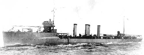 Sterett sister ship USS Walke DD 34 - also launched 1910